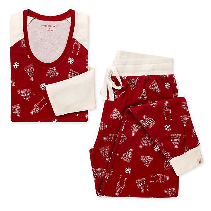 Alternate image 1 for Burt's Bees Baby® Women's 2-Piece Hats Off Organic Cotton Pajama Set