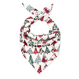 Burt's Bees Baby® O Christmas Tree Organic Cotton Dog Bandanas in Spinach (Set of 2)