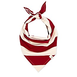 Burt's Bees Baby® Rugby Stripe Organic Cotton Dog Bandana in Cranberry