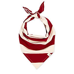 Burt's Bees Baby® Rugby Stripe Organic Cotton Dog Bandana in Cranberry