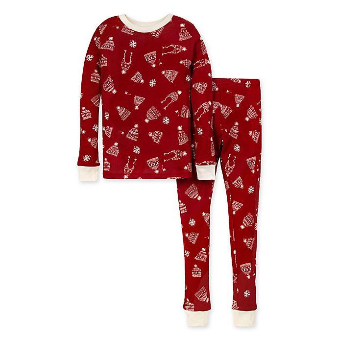 Alternate image 1 for Burt's Bees Baby® Hats Off 2-Piece Big Kids Organic Cotton Pajama Set