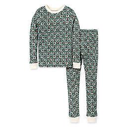 Burt's Bees Baby® Child's 2-Piece Diamond Fair Isle Organic Cotton Pajama Set