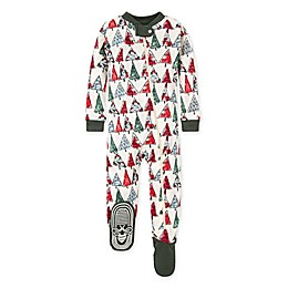 Burt's Bees Baby® O Christmas Tree Organic Cotton Footie in Spinach