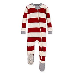 Burt's Bees Baby® Rugby Stripe Organic Cotton Sleeper in Cranberry