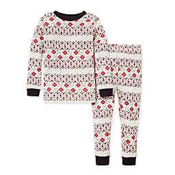 Burt's Bees Baby® 2-Piece Bold Fair Isle Toddler Organic Cotton Pajama Set in Zinc