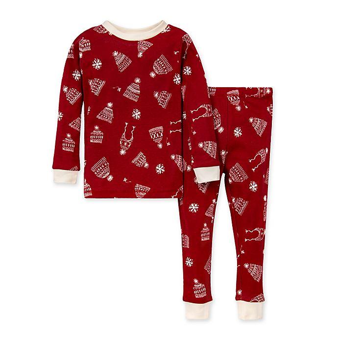 Alternate image 1 for Burt's Bees Baby® 2-Piece Hats Off Organic Cotton Toddler Pajama Set