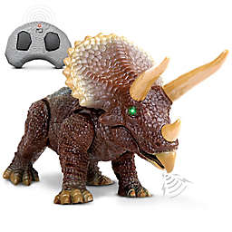 Discovery Kids™ Remote Control Triceratops in Brown