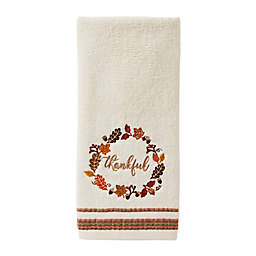 Fall Wreath Hand Towels in Natural (Set of 2)