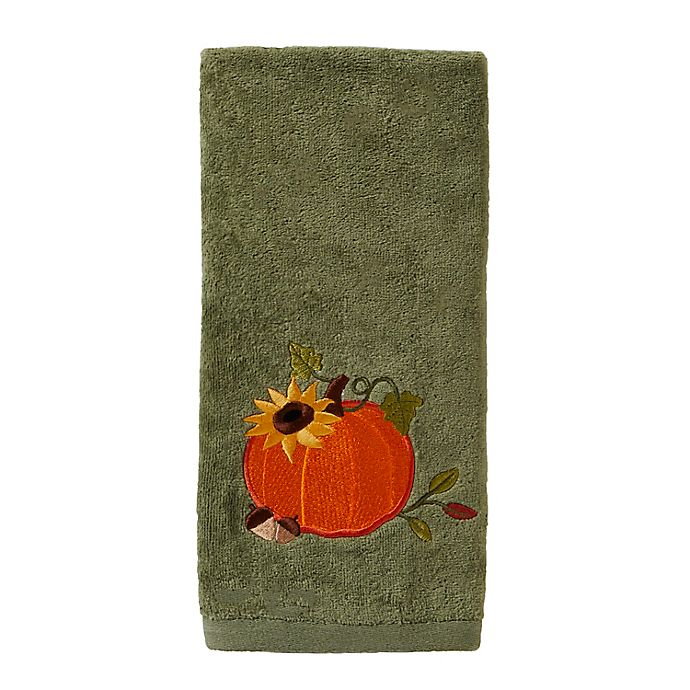 Alternate image 1 for SKL Home Decorative Harvest Pumpkin Hand Towels (Set of 2)