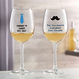 For Him White Wine Glass