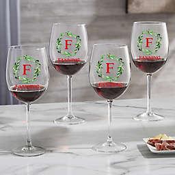 Wreath 19.25 oz. Red Wine Glass