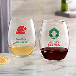 Choose Your Icon Christmas Stemless Wine Glass