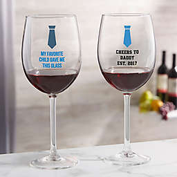 For Him Red Wine Glass