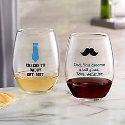 For Him Stemless Wine Glass