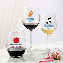 Teacher Wine Glass Collection
