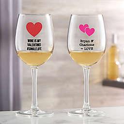 Choose Your Icon Valentine's Day White Wine Glass