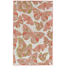 Kaleen Rugs Critter Comforts Butterfly 8' x 10' Area Rug in Pink