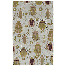 Kaleen Rugs Critter Comforts Beatles 8' x 10' Area Rug in Gold