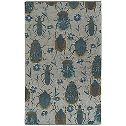 Kaleen Rugs Critter Comforts Beatles 8' x 10' Area Rug in Blue