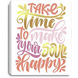 RoomMates® Soul Happy 10-Inch x 8-Inch Canvas Wall Art in Pink/Yellow