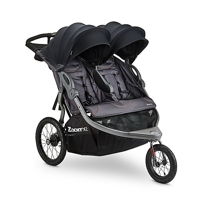 Alternate image 1 for Joovy® Zoom X2™ Double Jogging Stroller in Forged Iron