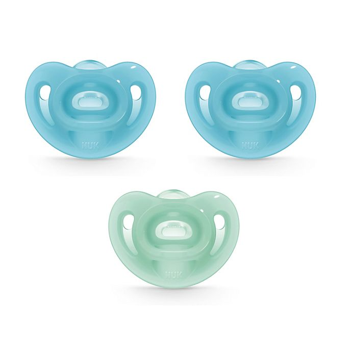 Alternate image 1 for NUK® Sensitive™ 3-Pack Orthodontic Pacifiers in Blue/Green