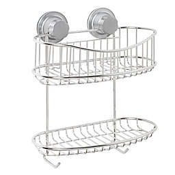 ORG NeverRust® Power Grip Pro™ 2-Tier Stainless Steel Shower Basket