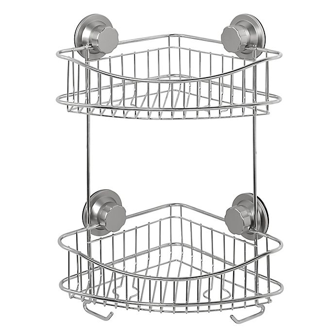 Alternate image 1 for ORG NeverRust® Power Grip Pro™ 2-Tier Stainless Steel Shower Caddy