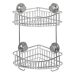 ORG NeverRust® Power Grip Pro™ 2-Tier Stainless Steel Shower Caddy