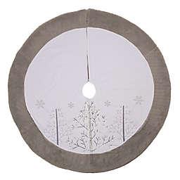 Glitzhome® Fallen Snow Fleece Tree Skirt in White