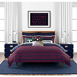Tommy Hilfiger® Heritage Stripe 3-Piece Reversible Comforter Set in Red