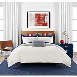 Tommy Hilfiger® Quilted Monogram 2-Piece Reversible Twin Comforter Set in Ivory