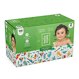 Hello Bello™ 100-Count Size 2 Parrots and Dinos Disposable Diapers in Green/Blue
