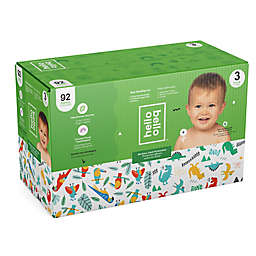 Hello Bello™ 92-Count Size 3 Parrots and Dinos Disposable Diapers in Green/Blue