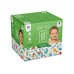 Hello Bello™ 74-Count Size 4 Parrots and Dinos Disposable Diapers in Green/Blue
