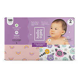 Hello Bello™ 100-Count Size 2 Rainbows and Spring Blooms Disposable Diapers in Pink/Purple
