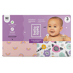 Hello Bello™ 92-Count Size 3 Rainbows and Spring Blooms Disposable Diapers in Pink/Purple