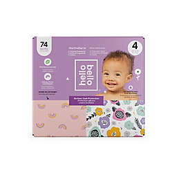 Hello Bello™ 74-Count Size 4 Rainbows and Spring Blooms Disposable Diapers in Pink/Purple