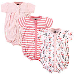 Hudson Baby® Size 18-24M Flamingo Short Sleeve Cotton Romper in Coral