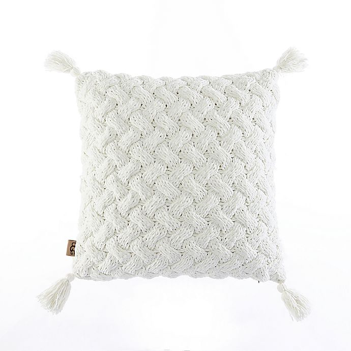 Alternate image 1 for UGG® Maye Square Throw Pillow in Snow