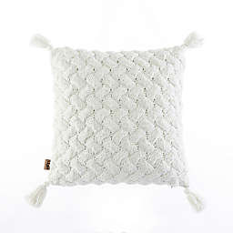 UGG® Maye Square Throw Pillow in Snow