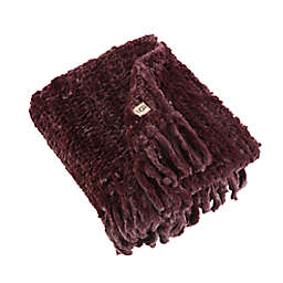UGG® Meadow Hand-Knitted Throw Blanket in Cabernet