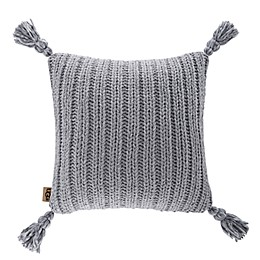 UGG® Rhodes Square Throw Pillow in Seal Grey