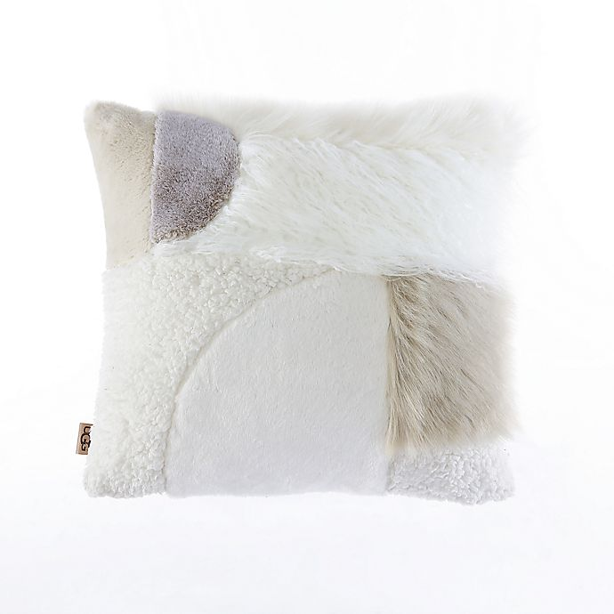 Alternate image 1 for UGG® Snapper Square Throw Pillow in Snow
