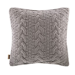 UGG® Yucca Square Throw Pillow in Fawn