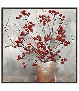 Cuadro decorativo de lienzo diseño de bayas y flores de 78.74 cm