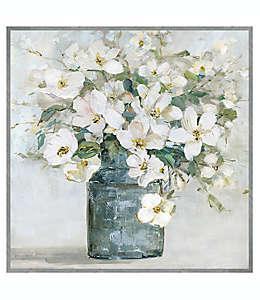 Cuadro decorativo de lienzo diseño de flores blancas de 78.74 cm