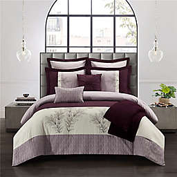 Roxane 8-Piece Reversible Full/Queen Comforter Set in Purple