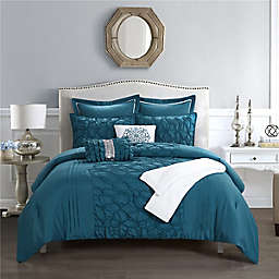 Shantel 8-Piece Reversible King Comforter Set in Blue