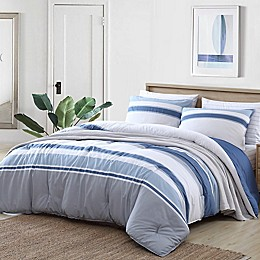 Nautica® Trimmer 3-Piece Reversible Comforter Set in Vintage Indigo